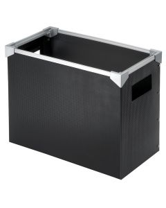 Desktop File Box, Letter Size, Black