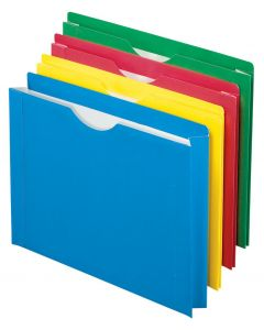 Color Reinforced File Jackets, Letter size, Assorted