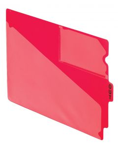 Poly End Tab Out Guides, Letter size, Red