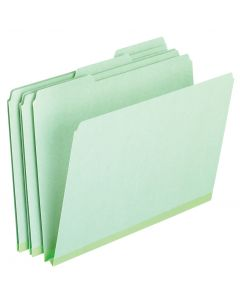 Pressboard Expansion File Folders, Letter size, Light Green
