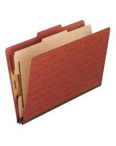 Pressboard Classification Folders, Legal size, Brick Red