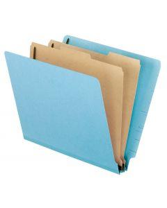 Color Pressboard End Tab Classification Folders, Letter size, Red