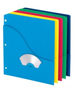Wave Pocket Project Folders, Assorted