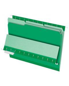 Interior File Folders, Letter size, Bright Green