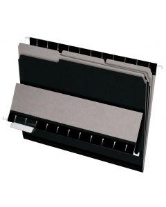 Interior File Folders, Letter size, Black