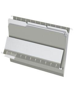 Interior File Folders, Letter size, Gray