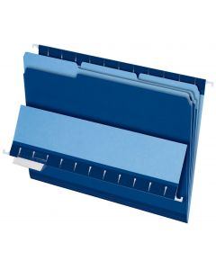 Interior File Folders, Letter size, Navy