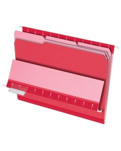 Interior File Folders, Letter size, Red