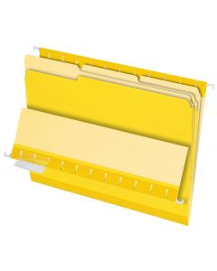 Interior File Folders, Letter size, Yellow