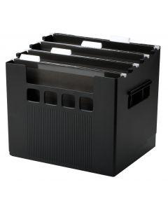 """Pendaflex® Super Decoflex® Desktop File, 11"""" H x 12 3/4"""" W x 10"""" D, Black, Each"""