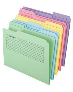 Printed Notes File Folders, Letter size, Assorted