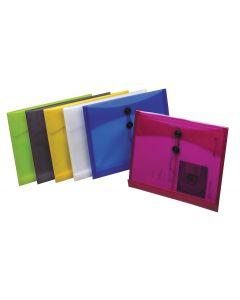 Poly String Envelopes, Letter size, Assorted