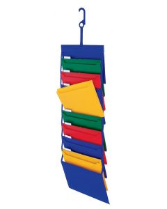 Hanging Organizers, Letter size, Blue with Primary Colors