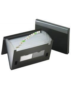 13 Pocket Expanding Files, Regular, Black