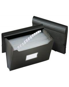 13 Pocket Expanding Files, Jumbo size, Black