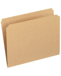 Reinforced Top File Folders, Letter size, Kraft