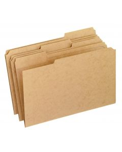 Reinforced Top File Folders, Legal size, Kraft