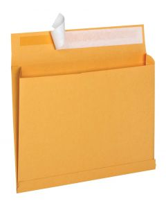 10 x 15 x 2 Expansion Mailers with Self Seal Closure for Bulky Mailings, 40 lb Brown Kraft, 100 per Carton