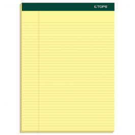 4 Pads//Pack 8 1//2 x 11 3//4 TOPS 99612 Double Docket Ruled Pads White 100 Sheets
