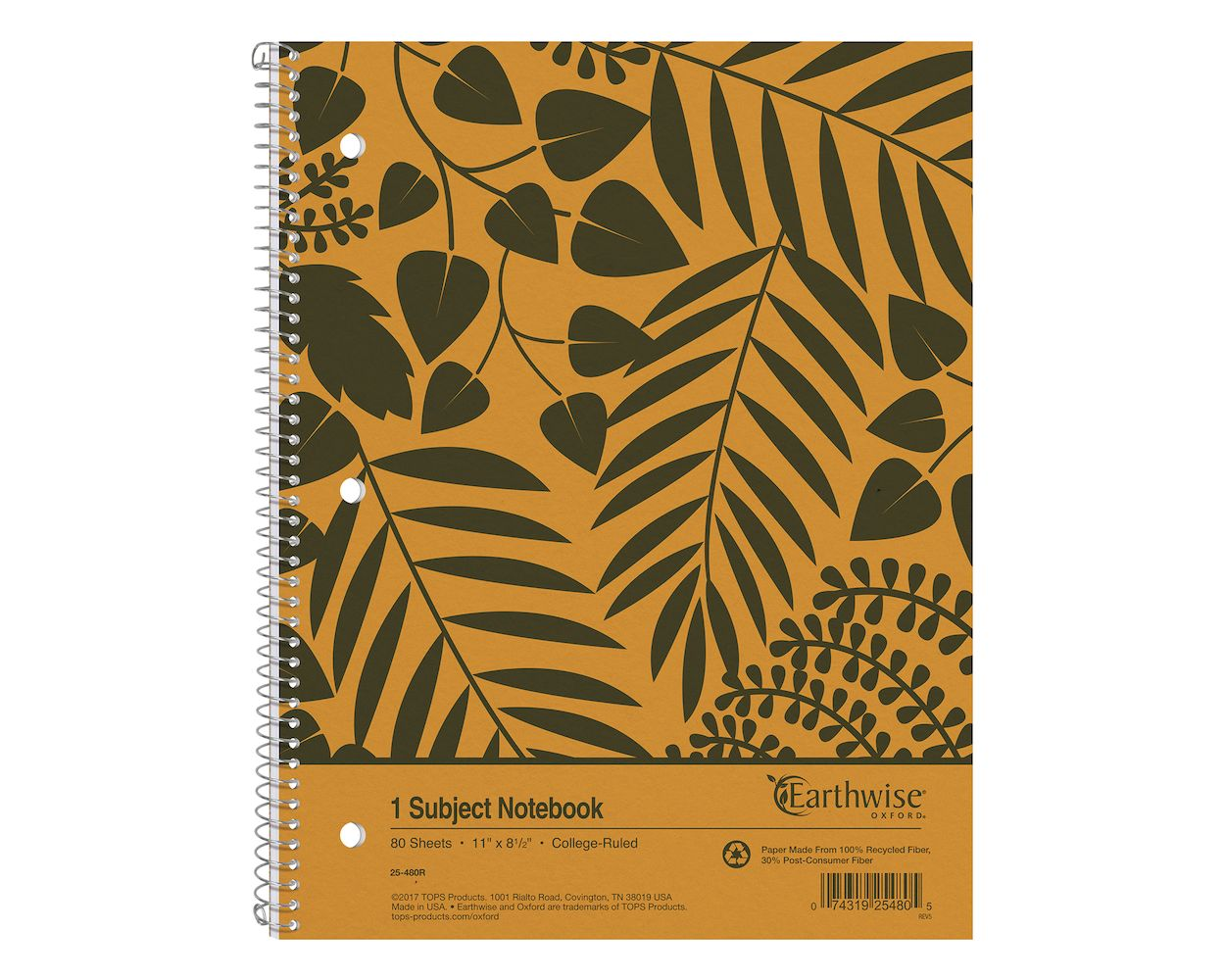 150 SH WE Earthwise by Oxford Small Size Notebook 9 1//2 x 6 College//Medium