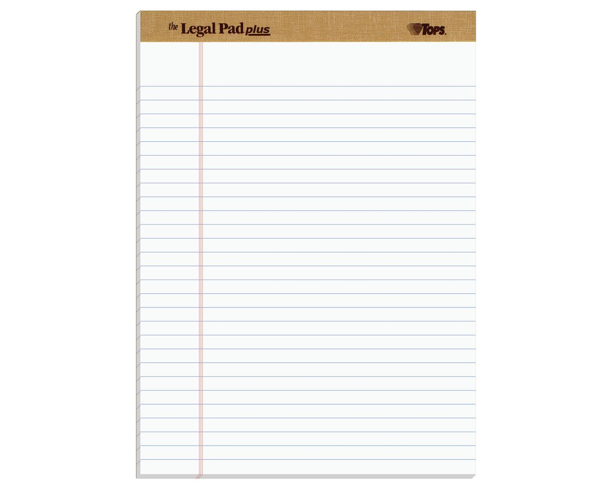 TOPS The Legal Pad Legal Pad 7500 5 x 8 12 Pads per Pack Narrow Rule Perforated White 50 Sheets per Pad