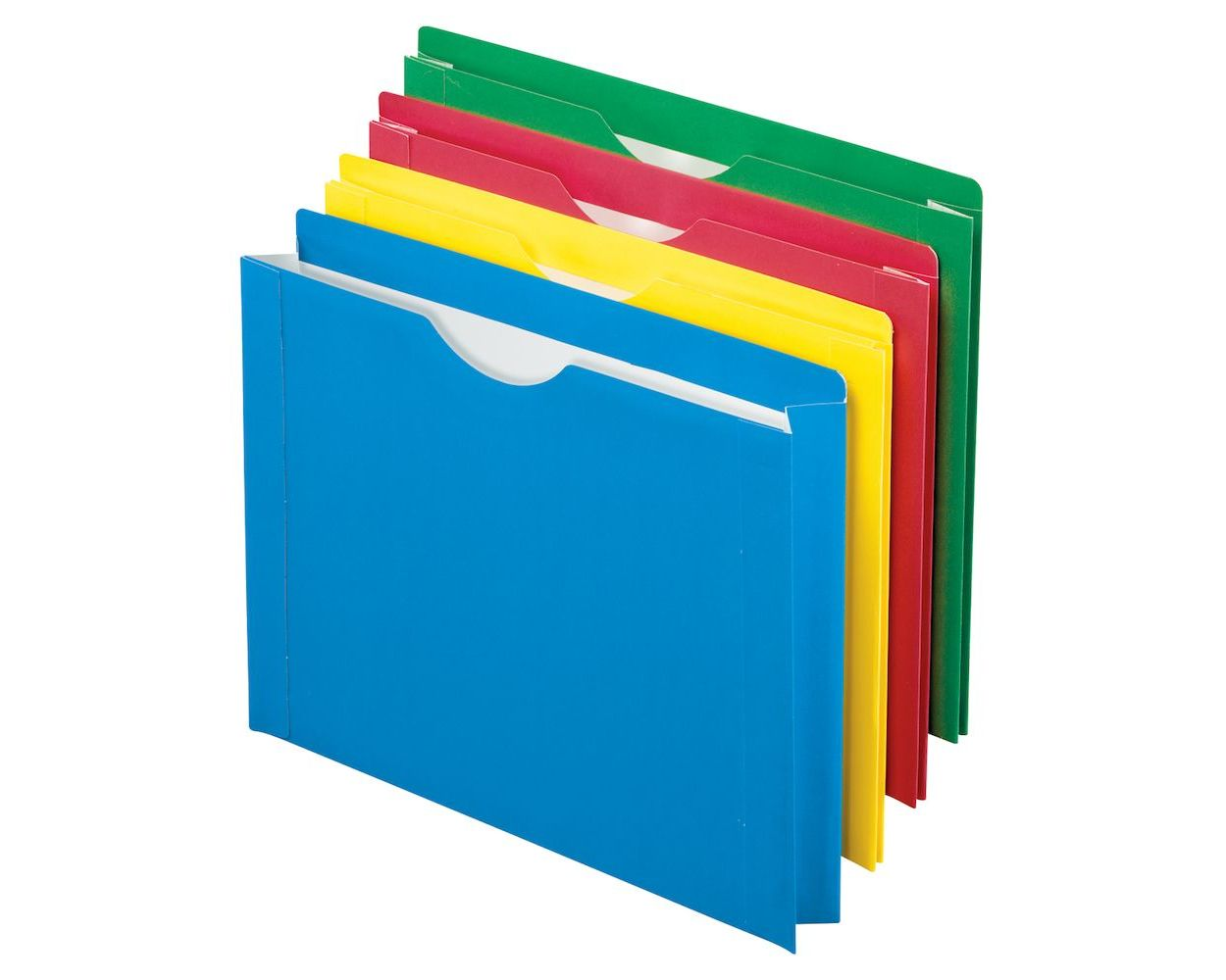 Wholesale Colored File Jackets: Discounts on Color Reinforced File Jackets, Letter size, Assorted PFX12003EE